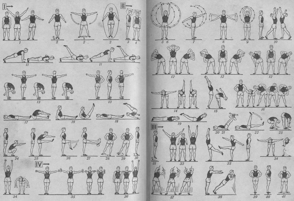 Гимнастика картинки схемы
